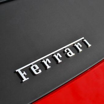 Ferrari 458 Matte Black Roof Wrap Rear Badge