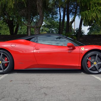 Ferrari 458 Matte Black Roof Wrap Side