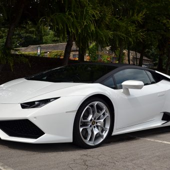 Lamborghini Huracan Matte Black Roof Front
