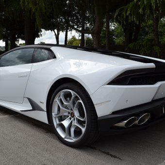 Lamborghini Huracan Matte Black Roof Rear