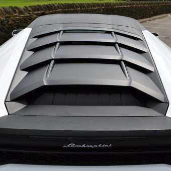 Lamborghini Huracan Matte Black Roof Rear Straight