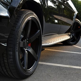 Mercedes GL Matte Black Vossen CV3R Closeup