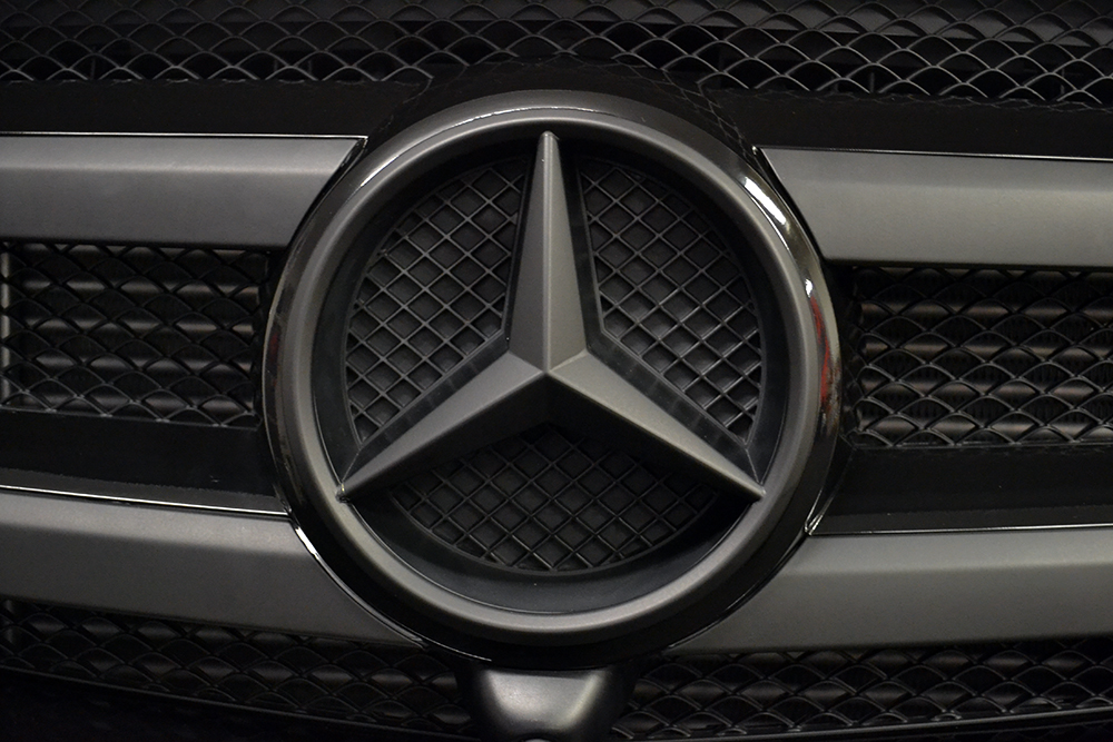 Wrapped Mercedes Badge