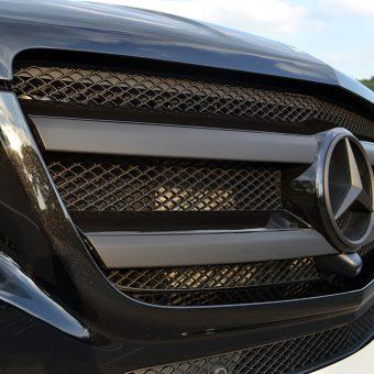 Mercedes GL Matte Blac Vossen Grille
