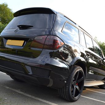 Mercedes GL Matte Black Vossen Rear
