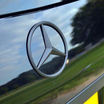 Mercedes GL Matte Black Vossen Rear Badge
