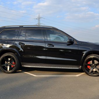 Mercedes GL Matte Black Vossen Side