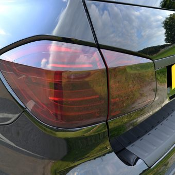 Mercedes GL Matte Black Vossen Tinted Lights