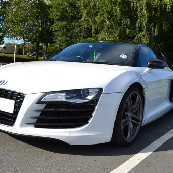 Audi R8 Detailing Carbon Front Angled