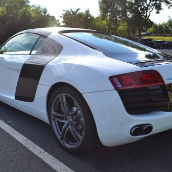 Audi R8 Detailing Carbon Rear Angled