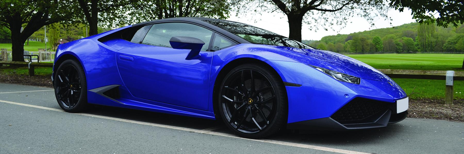 Lamborghini Huracan Cosmic Blue Homepage Banner