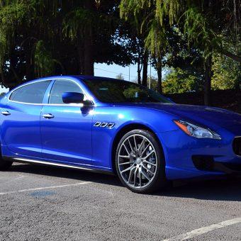 Maserati Quattroporte Wrapped 3M Cosmic Blue