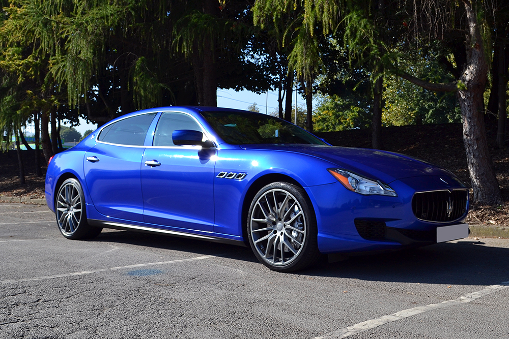 Maserati Quattroporte Wrapped In Cosmic Blue Reforma Uk