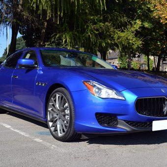 Maserati Quattroporte Wrapped Front Angled