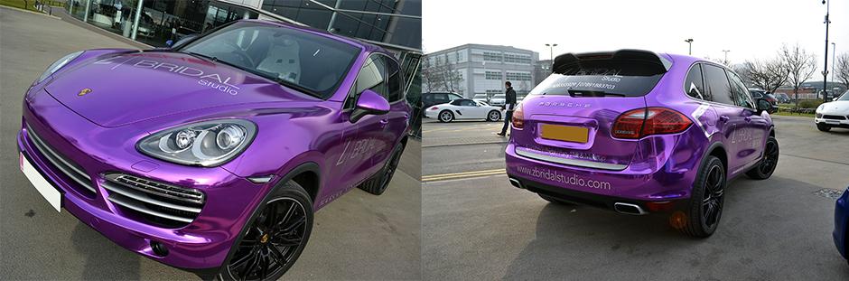 Chrome Wrapping Purple Chrome