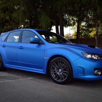 Subaru Impreza Blue Aluminium Front