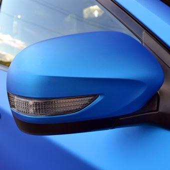 Subaru Impreza STI Blue Aluminium Mirror