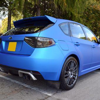 Subaru Impreza STI Blue Aluminium Rear Angled