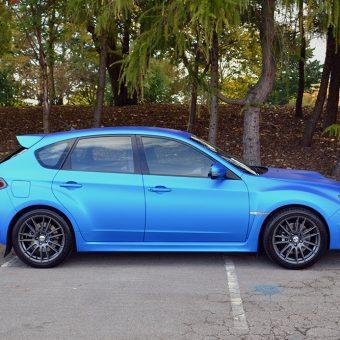 Subaru Impreza STI Blue Aluminium Side