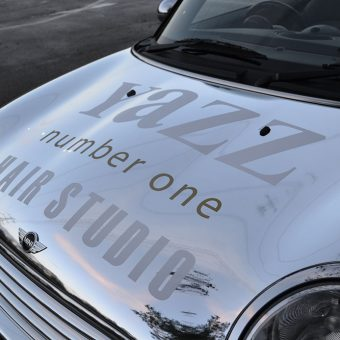 Mini Cabriolet Yazz Hair Chrome Wrap Bonnet