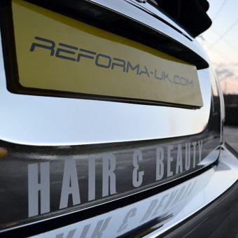 Mini Cabriolet Yazz Hair Chrome Wrap Rear Plate