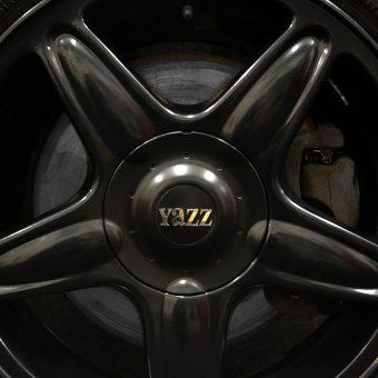 Mini Cabriolet Yazz Hair Chrome Wrap Satin Black Wheels