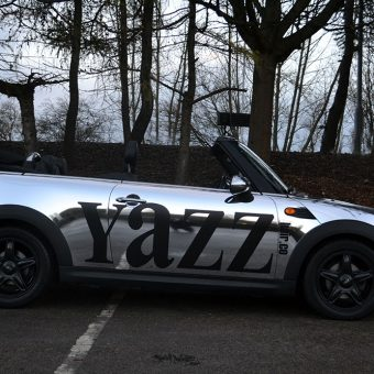 Mini Cabriolet Yazz Hair Chrome Wrap Side