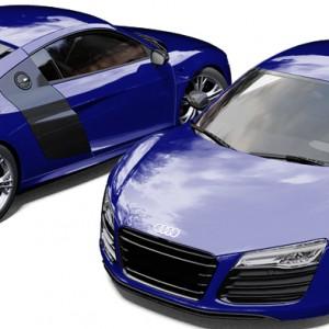 Audi R8 3M Blue Raspberry Wrapped