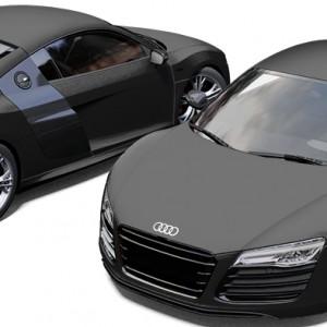 Audi R8 3M Matte Black Wrap