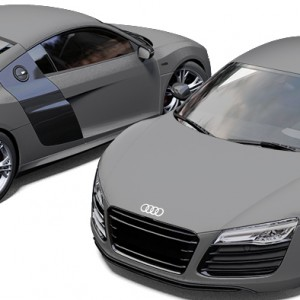 Audi R8 3M Matte Grey Aluminium Wrap