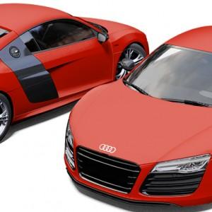 Audi R8 3M Matte Hot Rod Red Wrap