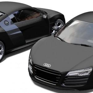 Audi R8 3M Satin Black Wrapping