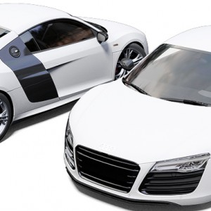 Audi R8 3M Satin White