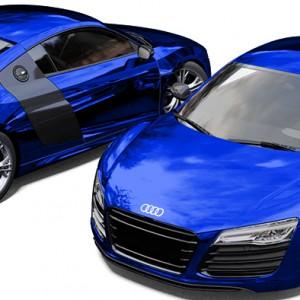 Audi R8 Avery Blue Chrome