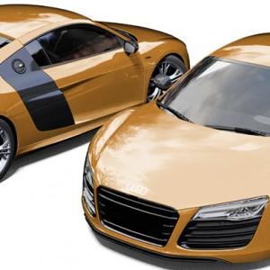 Audi R8 Avery Gold Metallic