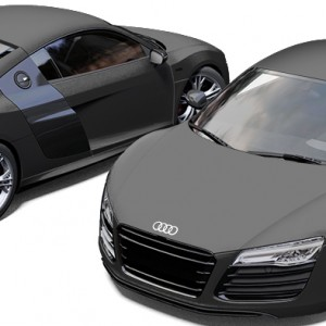 Audi R8 Avery Matte Charcoal