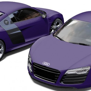 Audi R8 Avery Purple Matte Metallic Wrap