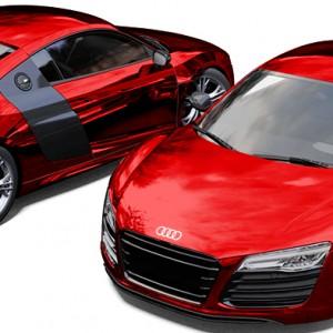 Audi R8 Avery Red Chrome