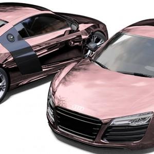 Audi R8 Avery Rose Gold