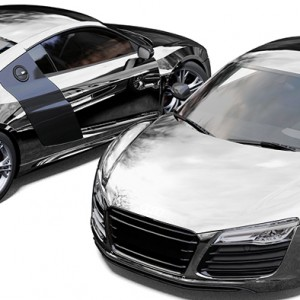 Audi R8 Avery Silver Chrome