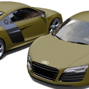 Audi R8 Matte Military Green Wrap
