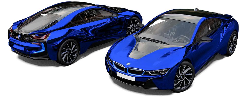 Bmw I8 Blue Chrome Reforma Uk