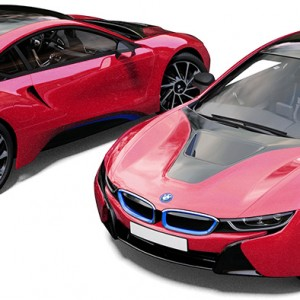 BMW i8 Red Pearlescent Wrap