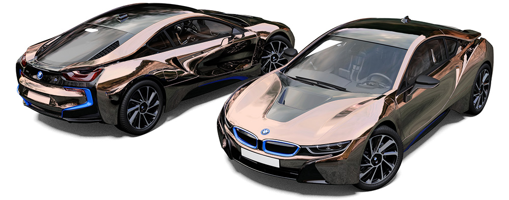 Bmw I8 White And Gold Rose Gold Bmw I8