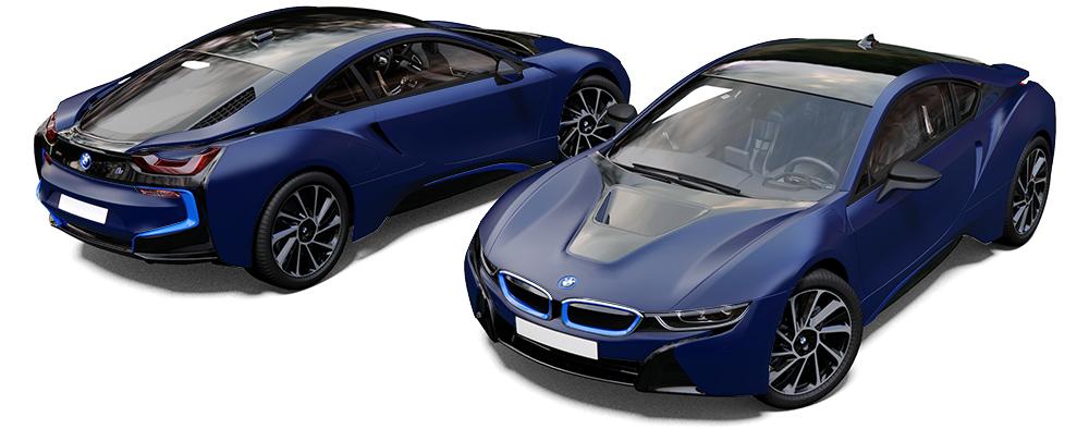 BMW I8 Wrap Satin Perfect Blue