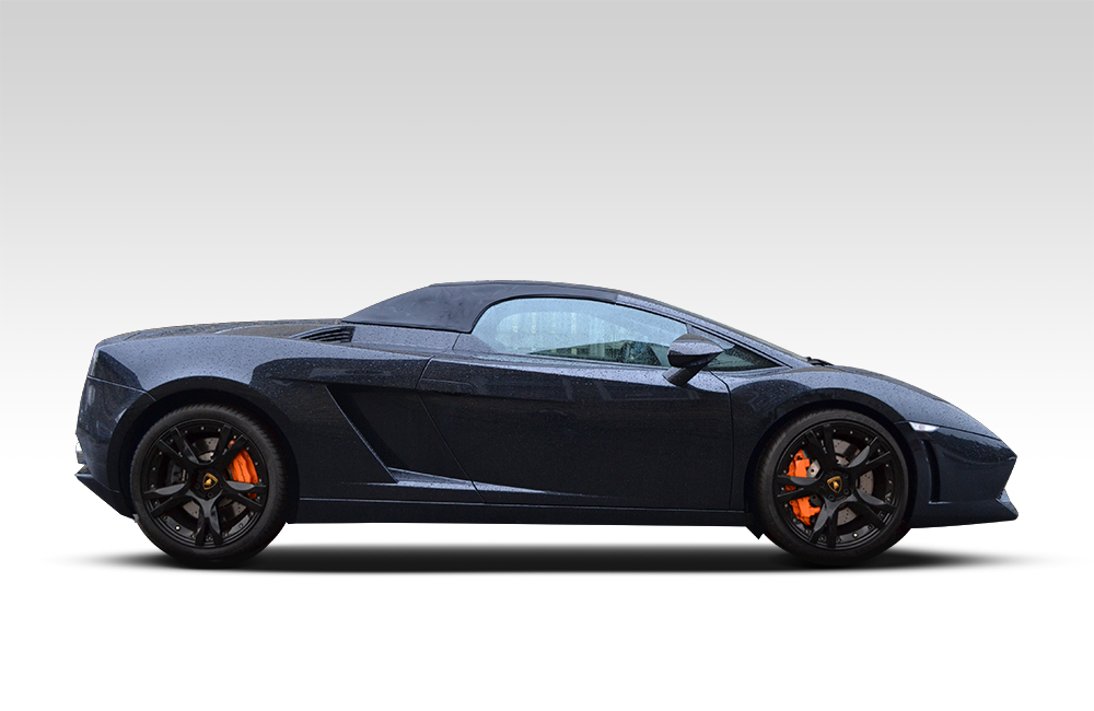 Lamborghini Gallardo Matte Black Before