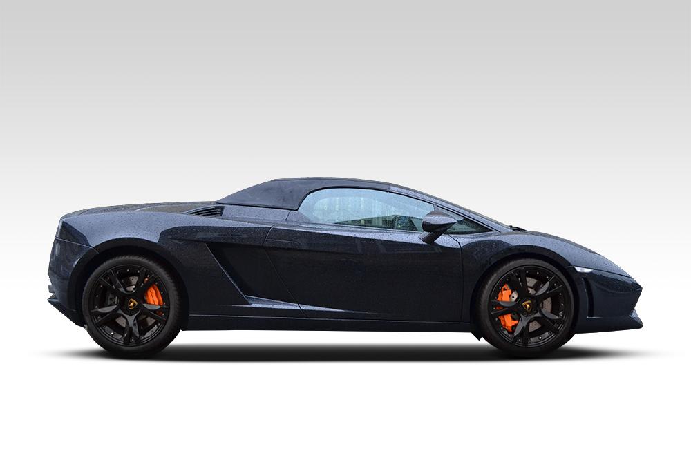 Before-Lamborghini Gallardo Wrapped in Matte Black