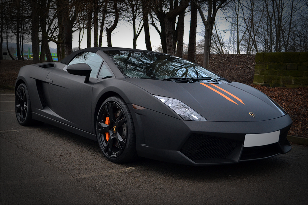 Lamborghini Gallardo Wrapped In Matte Black Reforma Uk