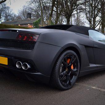 Lamborghini Gallardo Matte Rear Angled