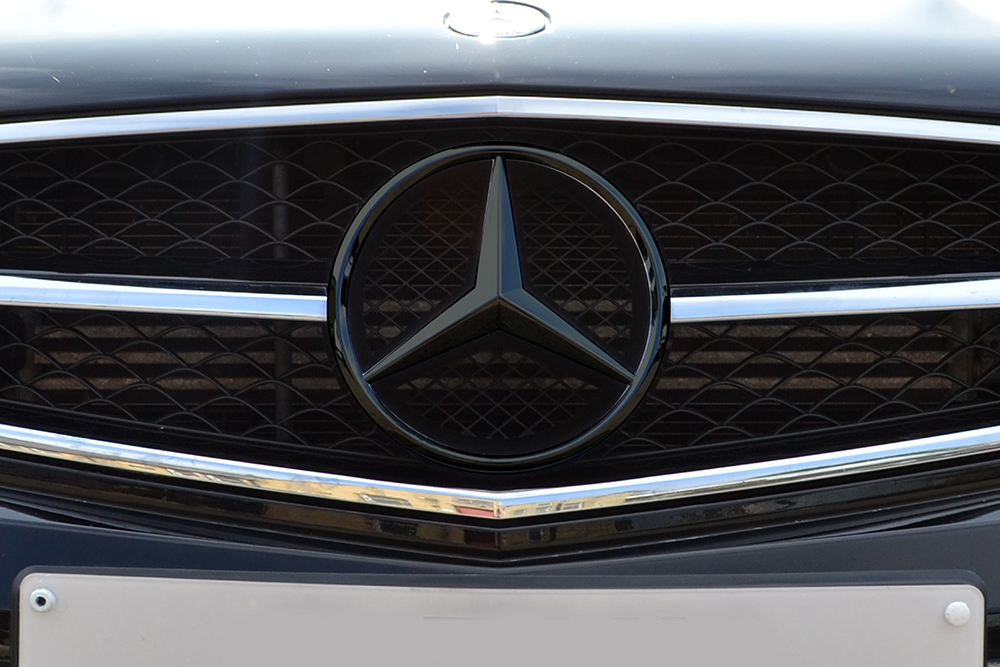 Mercedes Black Chrome Badge